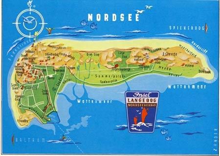 langeoog karte Die Karte von Langeoog